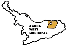 Map of Agona West Municipal Assembly, Ghana